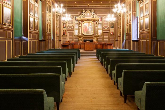 Journées du patrimoine 2017 - Visite commentée de la Faculté de pharmacie de Paris : salle des actes et galerie des pots
