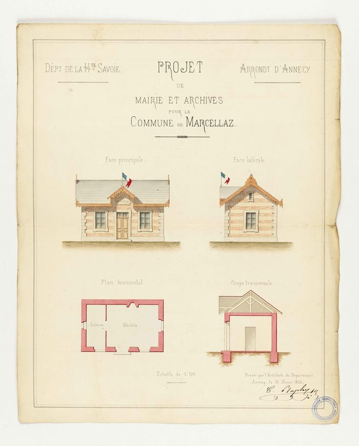 Crédits image : Arch. dép. Haute-Savoie, E Dépôt Marcellaz-Albanais 30.