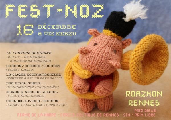 fest-noz de soutien à la fanfare bretonne du pays de Rennes