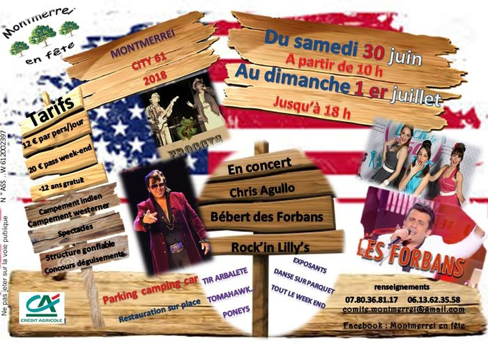 FESTIVAL COUNTRY ROCK DE MONTMERREI (61) - SAMEDI 30 JUIN ET DIMANCHE 1ER JUILL…