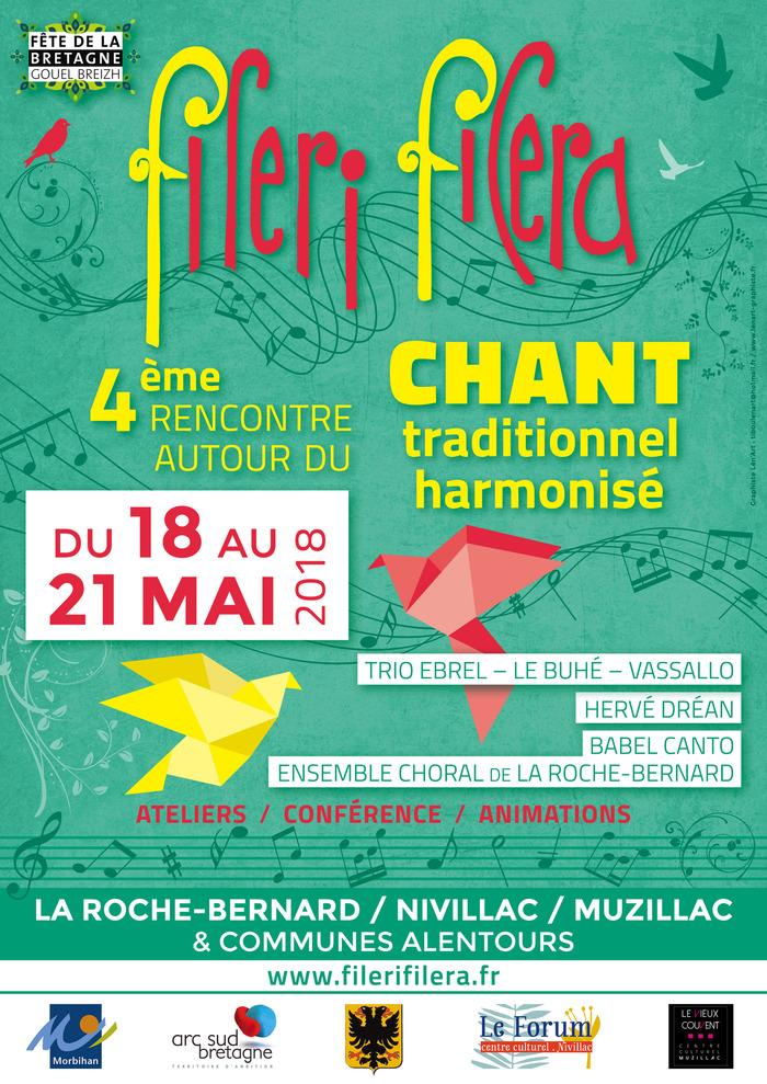 fileri filera 2018 : 4ème rencontre autour du chant traditionnel harmonisé du 18 au 21 mai
