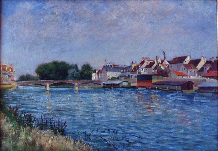 Crédits image : La Marne et ses bateaux lavoirs à Lagny, Léo Gausson ©Musée Gatien-Bonnet