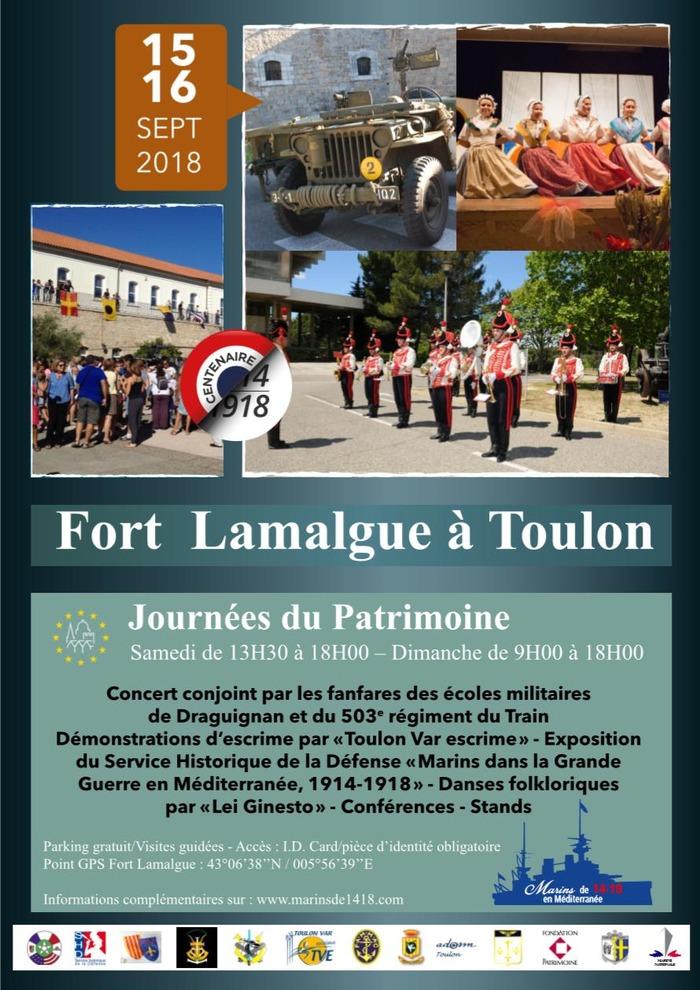 Journées du patrimoine 2018 - FORT LAMALGUE TOULON JEP 2018