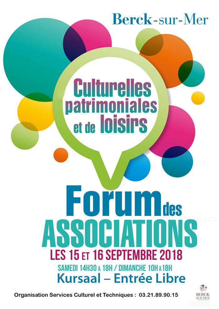 Journées du patrimoine 2018 - Forum des Associations Culturelles Patrimoniales et de loisirs