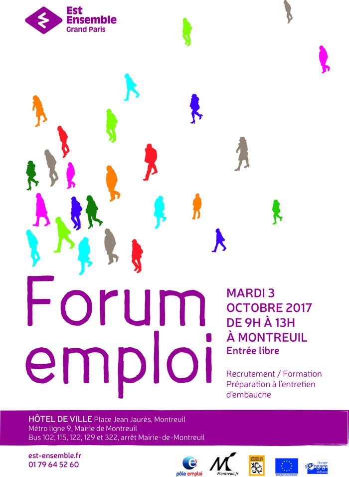 forum emploi a montreuil le mardi 3 octobre 2017