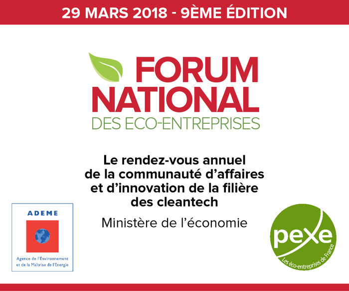 Forum national des éco-entreprises ADEME - PEXE