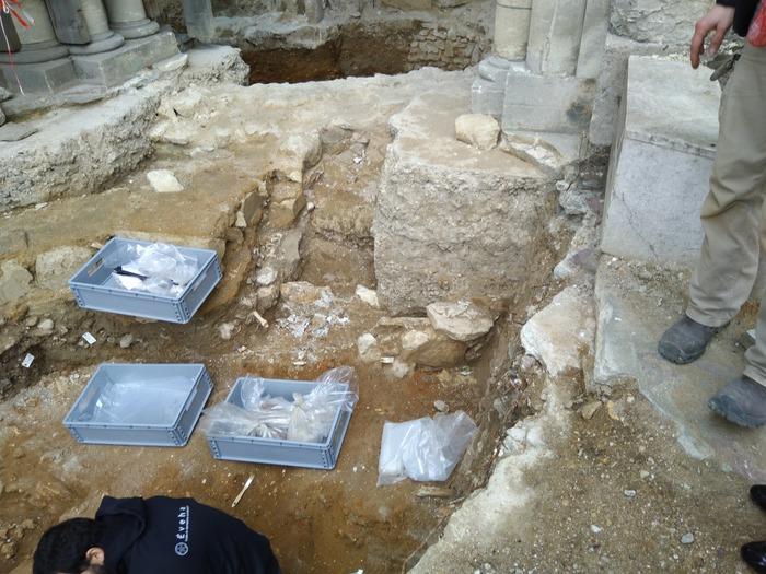 Journées du patrimoine 2018 - Fouilles sous l'ancien clocher