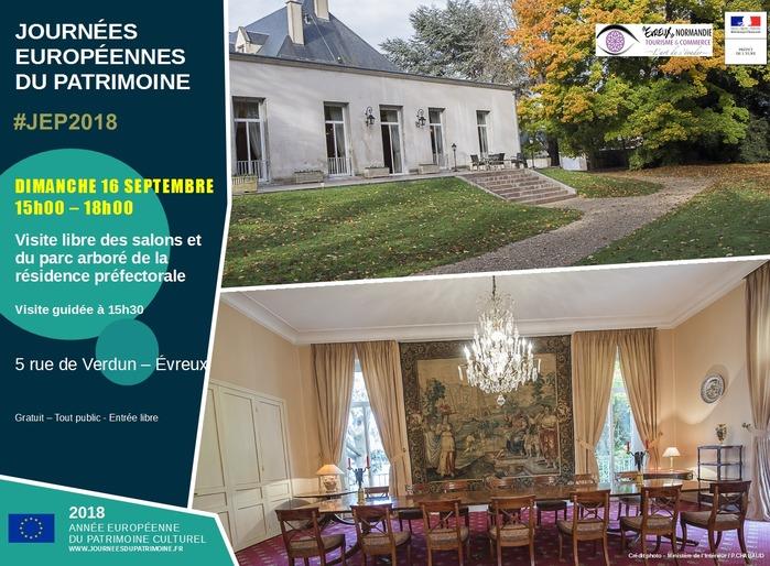 Journées du patrimoine 2018 - Visite guidée des salons et du parc arboré de la résidence préfectorale