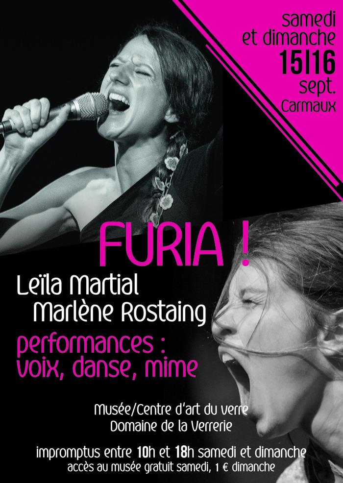 Journées du patrimoine 2018 - Spectacle : Furia ! Performances : voix, danse, mime
