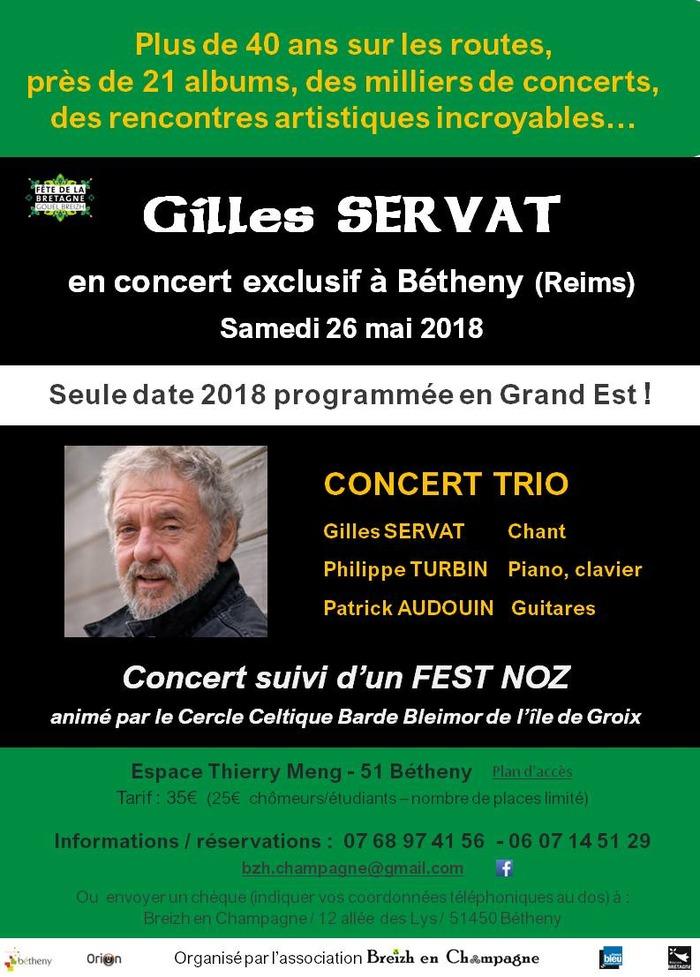 Gilles Servat concert Trio
