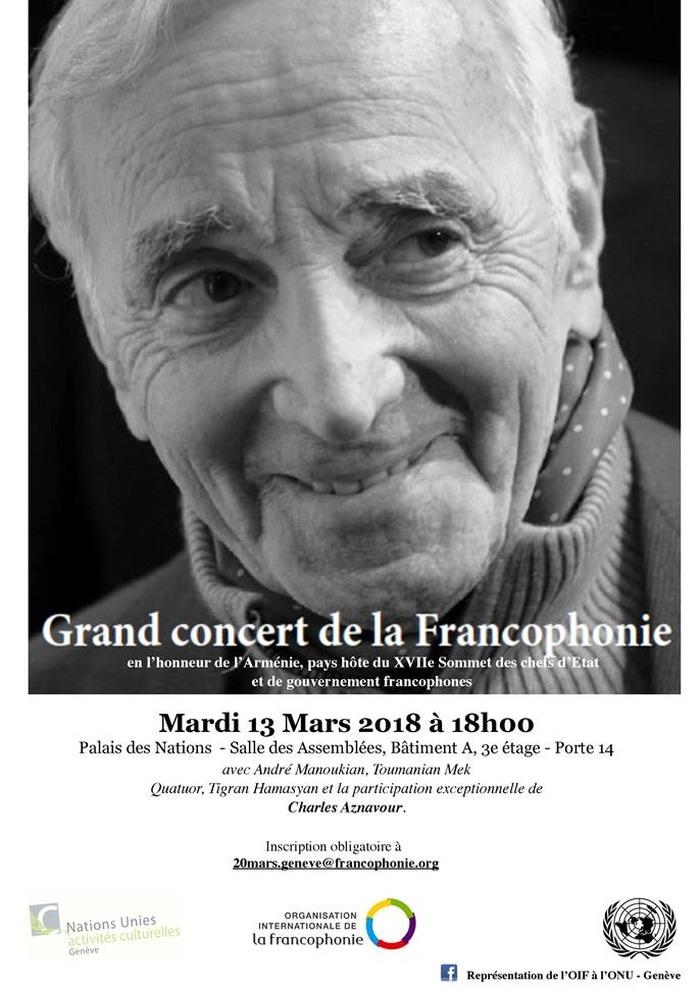 Grand concert de la Francophonie avec Charles Aznavour – Genève