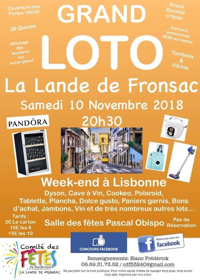 Grand loto Lalande de Fronsac