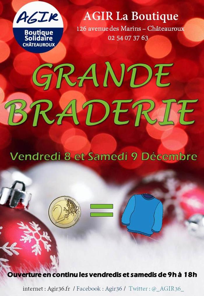GRANDE BRADERIE de décembre (Boutique Solidaire AGIR)