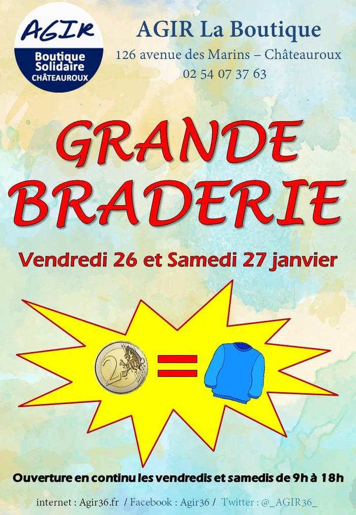 GRANDE BRADERIE de janvier (Boutique Solidaire AGIR)