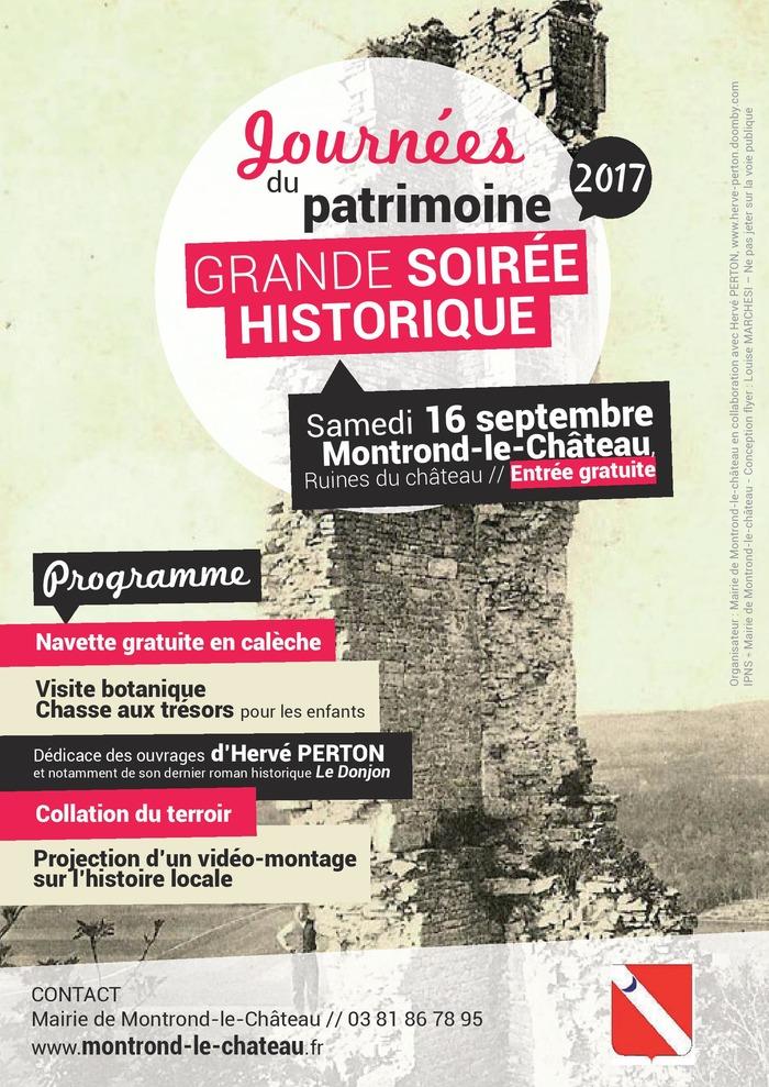 Journées du patrimoine 2017 - Visite botanique et vidéo-montage sur l'histoire du plateau de Montrond