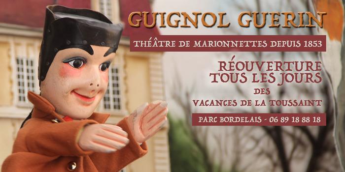 Guignol Guérin réouvre ses portes pour les vacances au Parc Bordelais