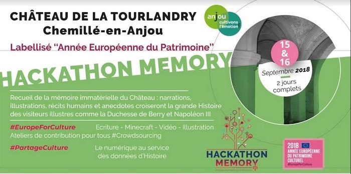 Journées du patrimoine 2018 - Hackathon MEMORY au Château de la Tourlandry
