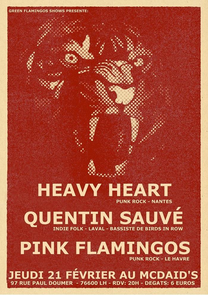 Heavy Heart / Quentin Sauvé / Pink Flamingos