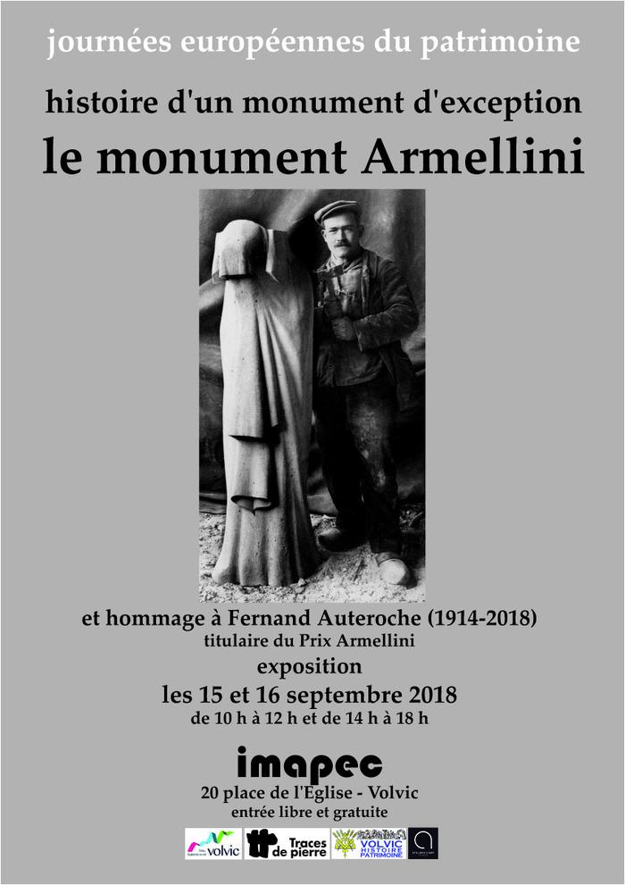 Journées du patrimoine 2018 - Histoire d'un monument d'exception : le monument Armellini et hommage à Fernand Auteroche, Prix Armellini