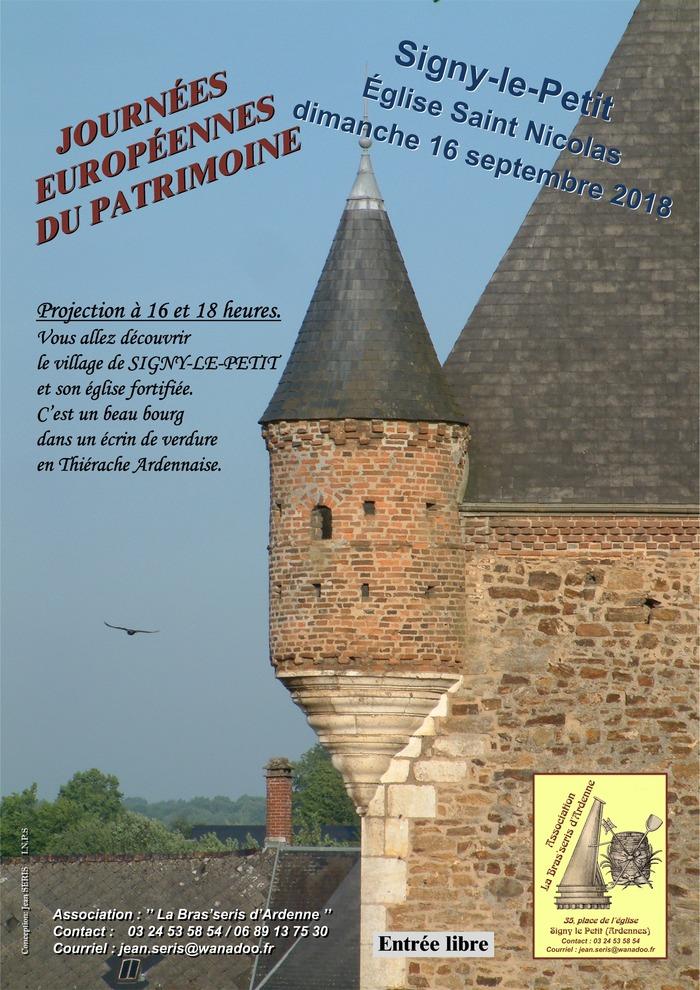 Journées du patrimoine 2018 - Histoire  d'une église fortifiée, au cœur de la Thiérache Ardennaise.