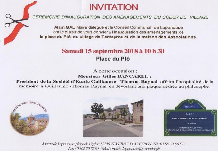Journées du patrimoine 2018 - Hommage à l'abbé Raynal
