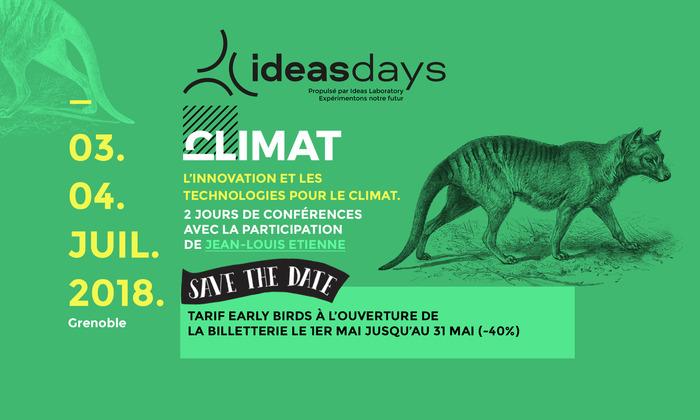 Ideas Days 2018 - Les technologies de l'innovation appliquées au climat