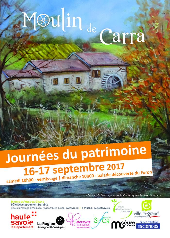 Journées du patrimoine 2017 - Inauguration culturelle du Moulin de Carra