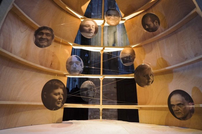 Inauguration de la crèche contemporaine des artistes Max Coulon et Théophile Stern