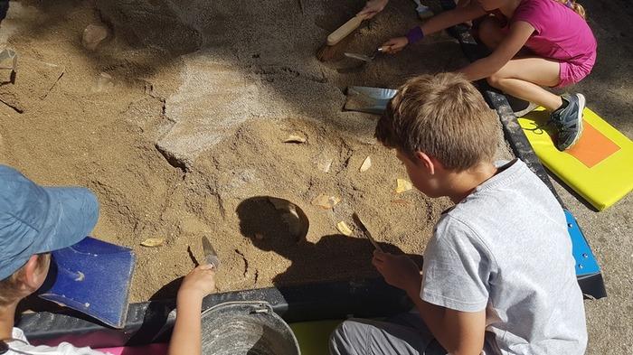 Journées du patrimoine 2018 - Initiation au bac de fouilles