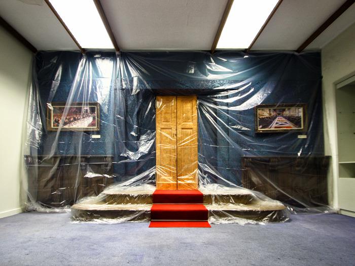 """Installation-performance """"Domo de Eŭropa Historio en Ekzilo"""""""