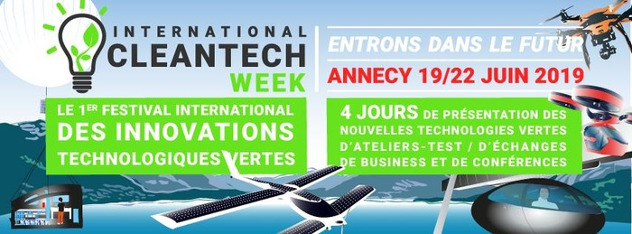 International Clean Tech week - 19 au 22 Juin - Annecy