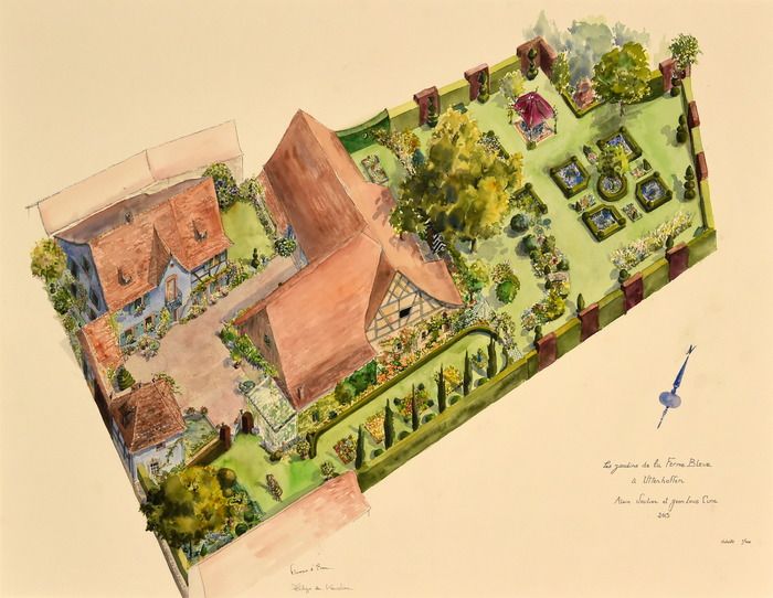 Crédits image : Jardins de la Ferme Bleue