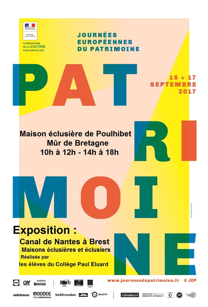 Journées du patrimoine 2017 - Le canal de Nantes à Brest, exposition