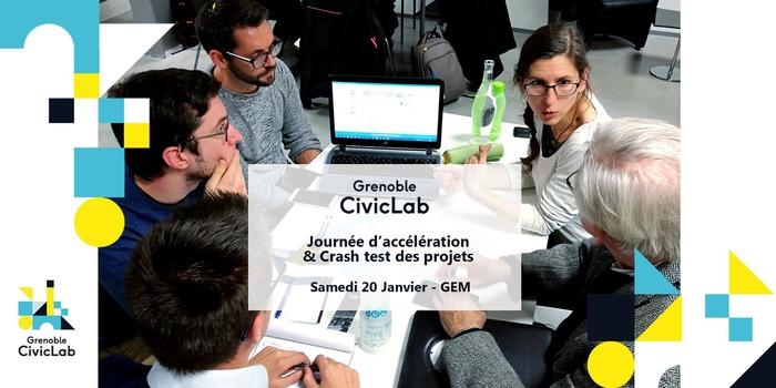 Journée d'accélération & Crash test des projets Grenoble CivicLab