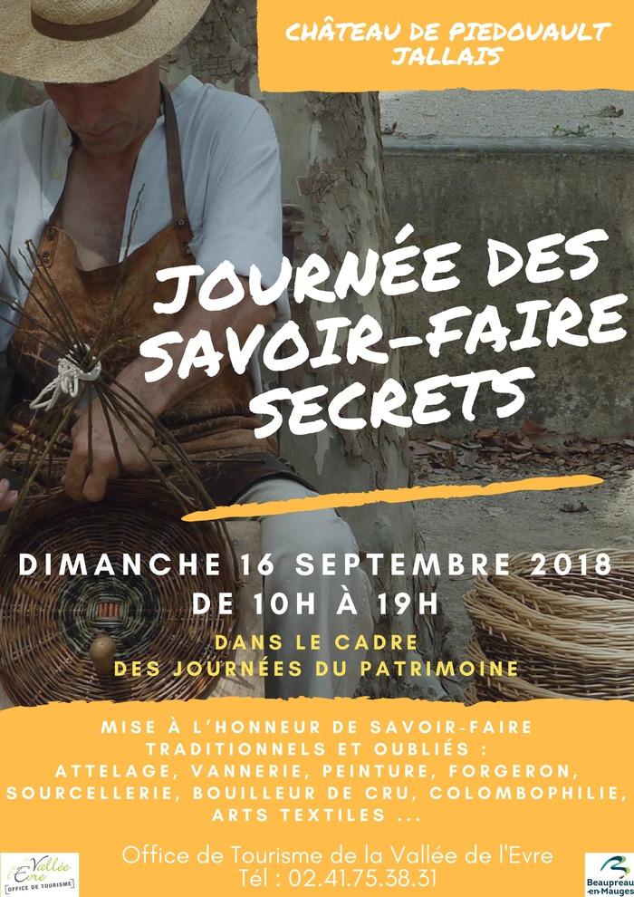 Journées du patrimoine 2018 - Journée des Savoir-Faire Secrets