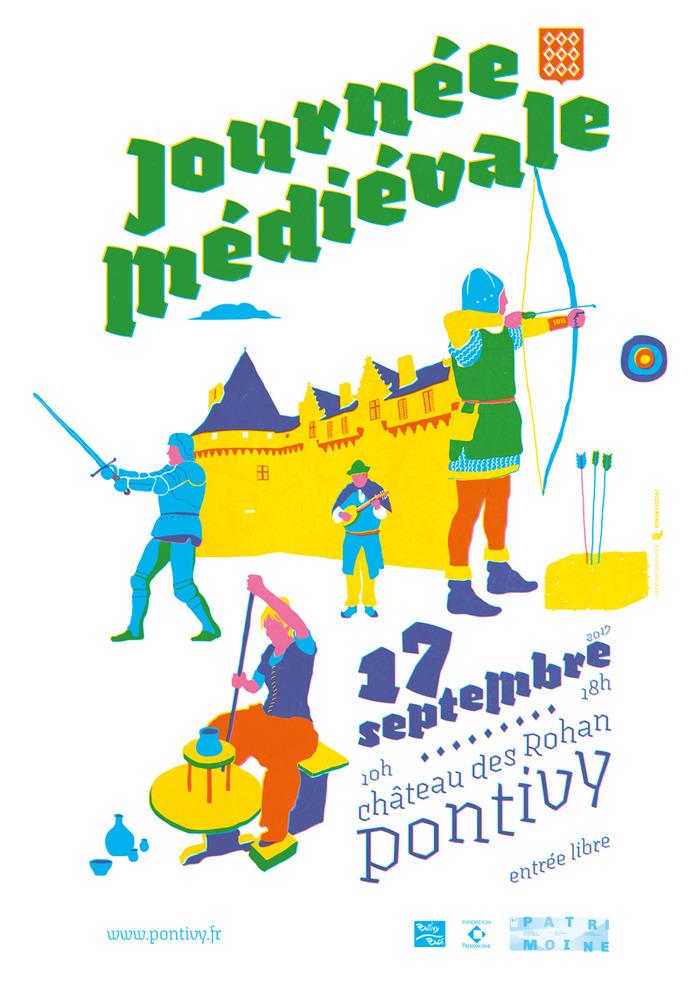 Journées du patrimoine 2017 - Journée médiévale dans les douves du château des Rohan à Pontivy