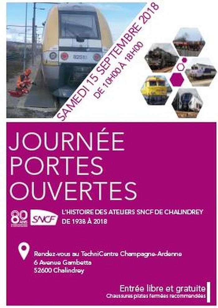 Journées du patrimoine 2018 - Journée portes ouvertes au TechniCentre Champagne-Ardenne