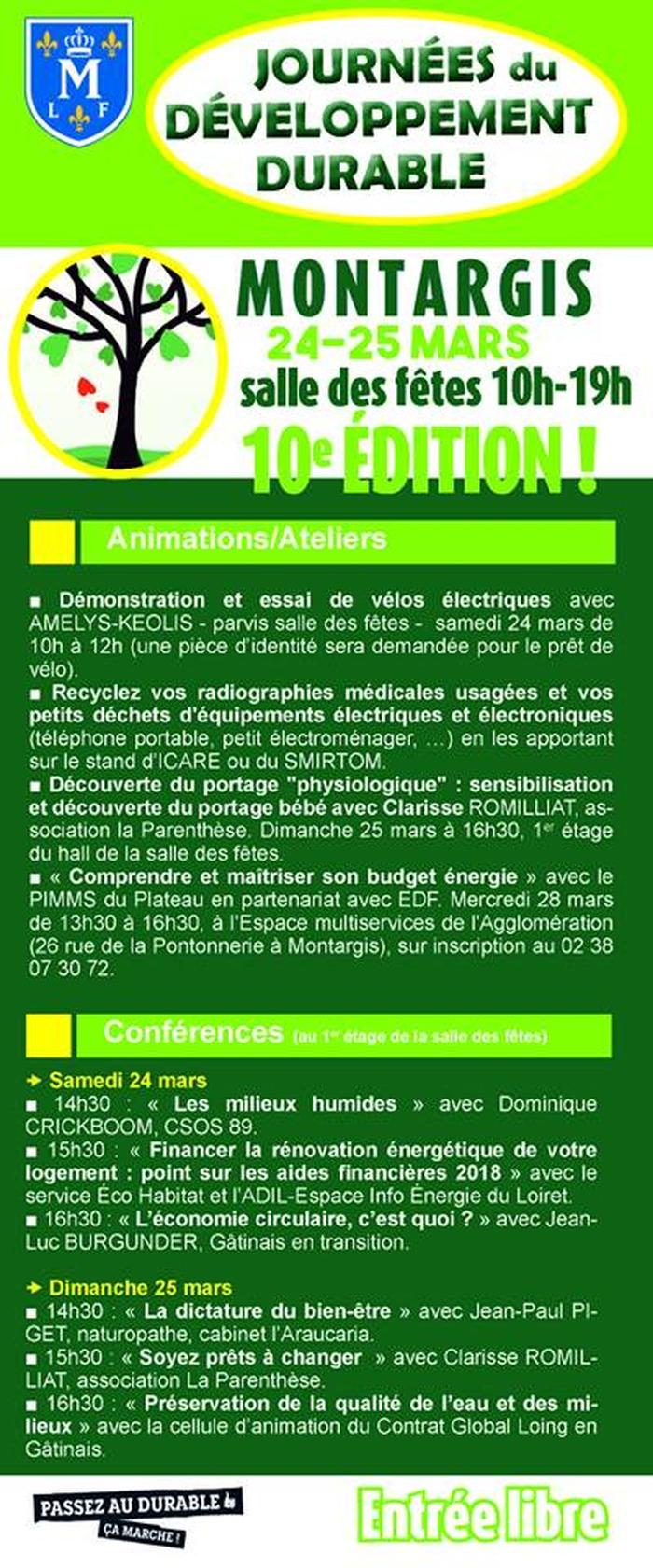 Journées du développement durable à Montargis
