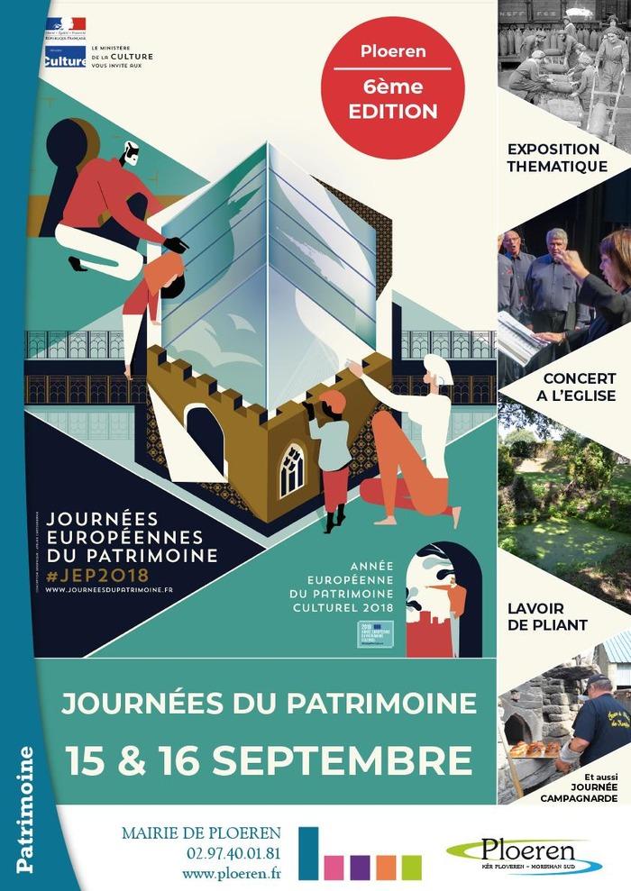 Journées du patrimoine 2018 - Animations à Ploeren dans le cadre des Journées Européennes du Patrimoine 2018