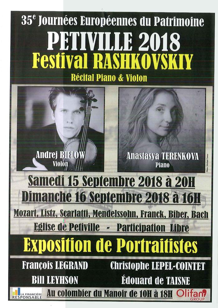 Journées du patrimoine 2018 - Concert de musique classique dans l'église de Petiville