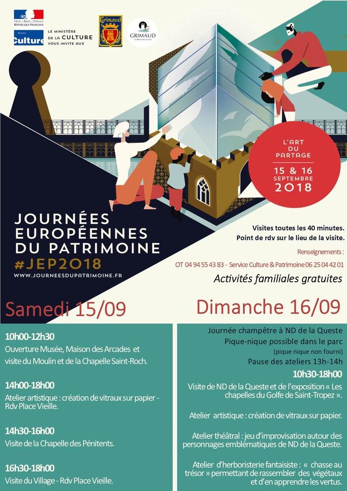 Journées du patrimoine 2018 - Journées européennes du patrimoine - Grimaud