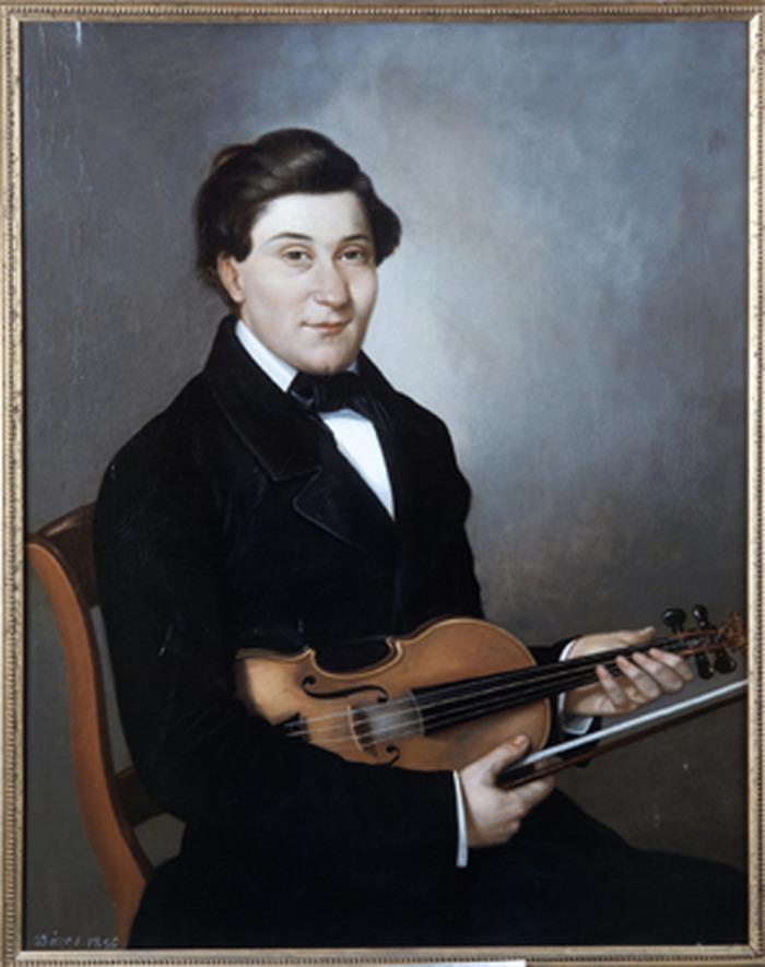 Crédits image : Pierre Emmanuel Dèzes de Grèzes, Portrait de M. Roussel, violoniste, 1856. Copyright Musée des Beaux-Arts de Gaillac