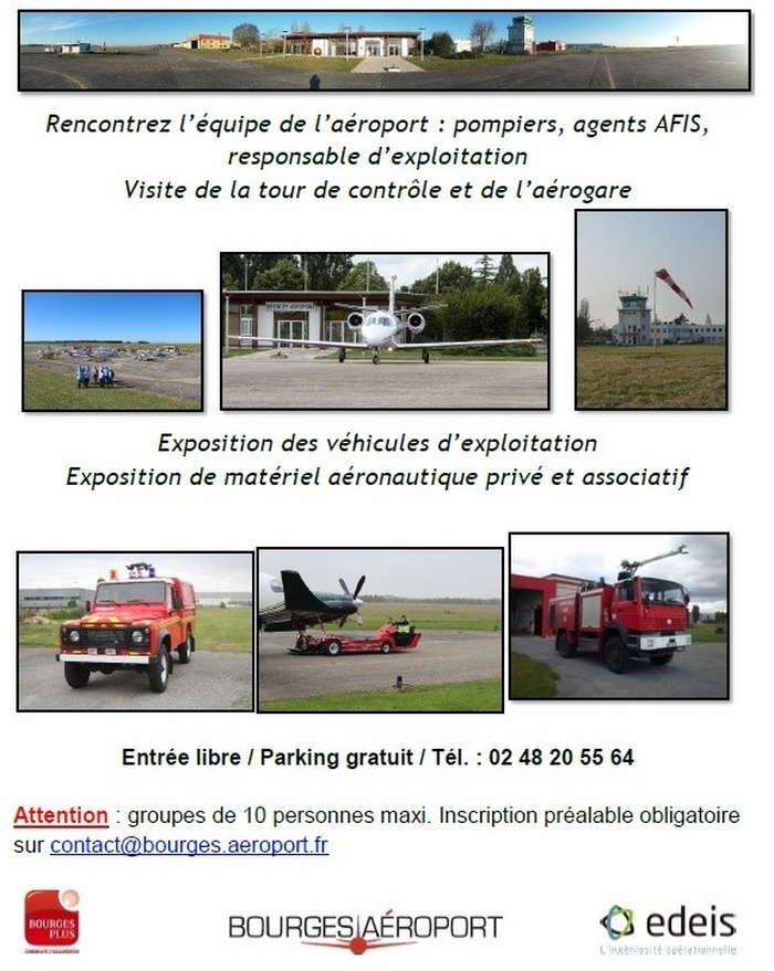 Crédits image : Aéroport Bourges