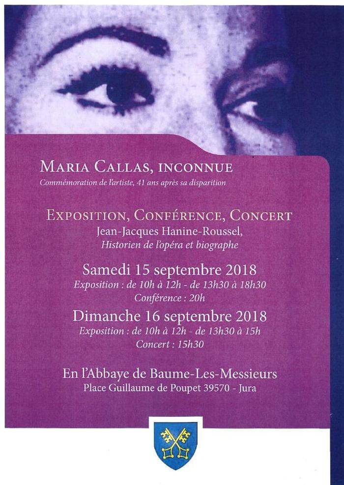 Journées du patrimoine 2018 - Conférence sur Maria Callas