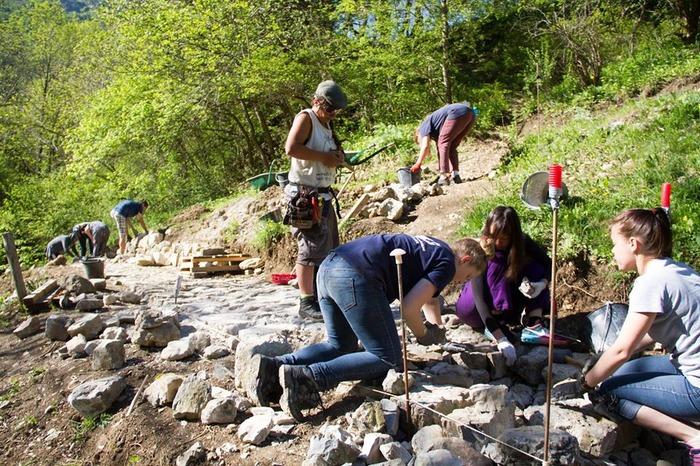 Journées du patrimoine 2017 - L'abbaye de Clausonne et les chantiers internationaux de jeunes bénévoles