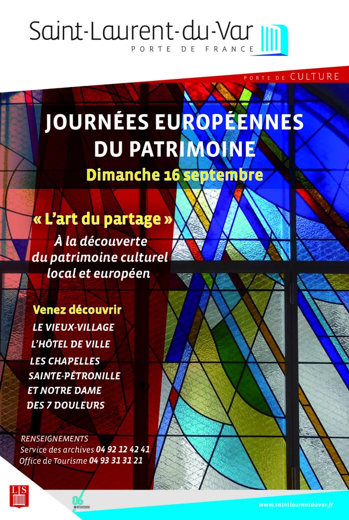 Journées du patrimoine 2018 - L'art du partage : à la découverte du patrimoine culturel local et européen