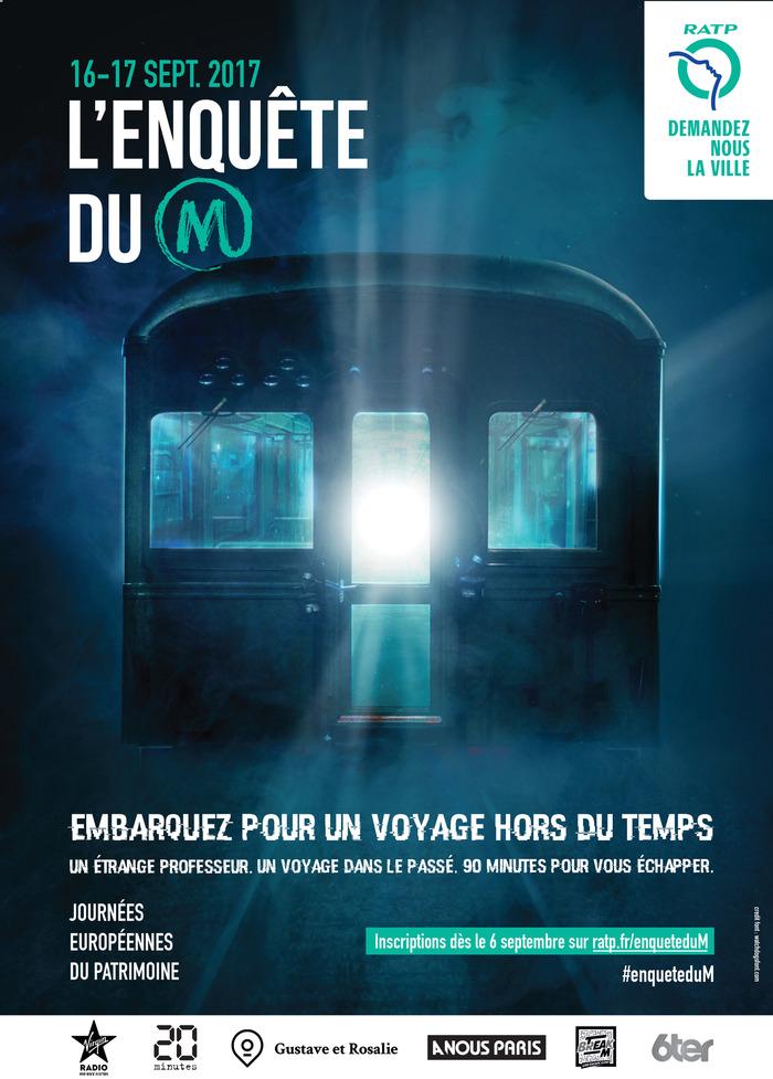 Journées du patrimoine 2017 - L'Enquête du M - escape game de la RATP