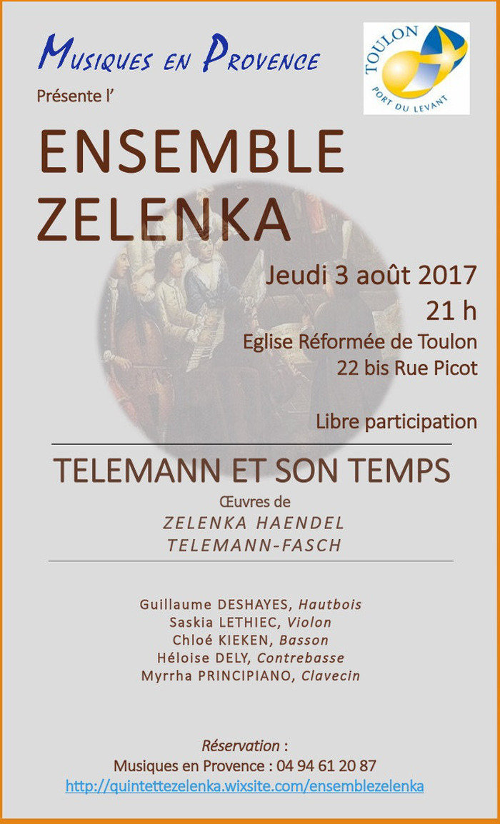 L'Ensemble Zelenka en concert à Toulon