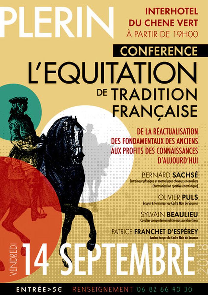 Journées du patrimoine 2018 - Conférence : L'équitation de tradition française