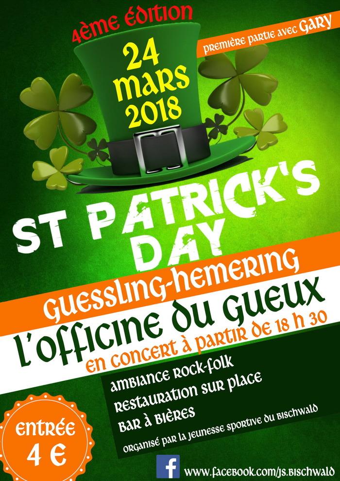L'Officine du Gueux (rock folk irlandais) + Gary en première partie.